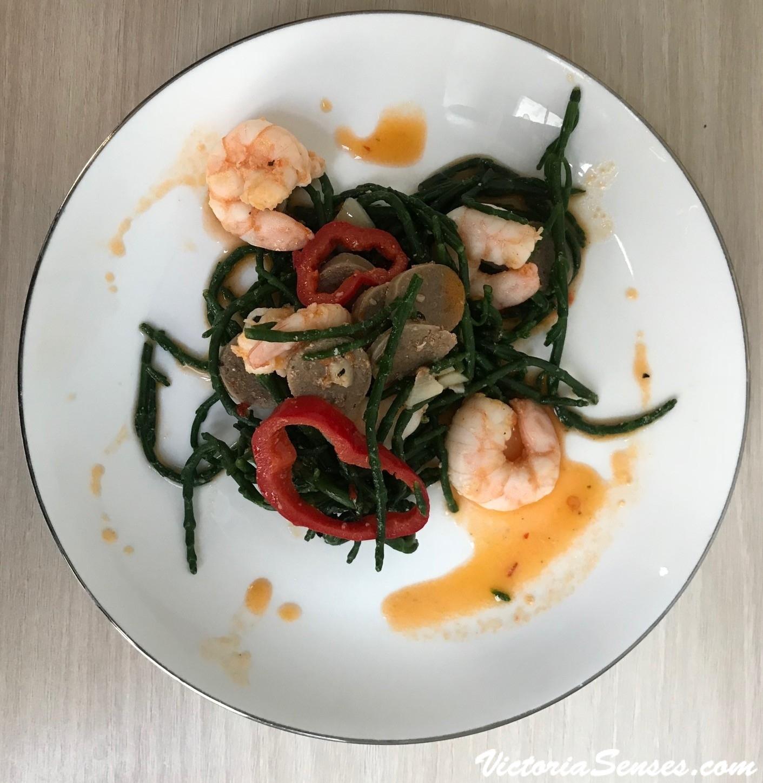 гастрономический и ресторанный критик, дегустации еды, пища, гастрономический писатель. Критмум салат. Samphire salad recipe.